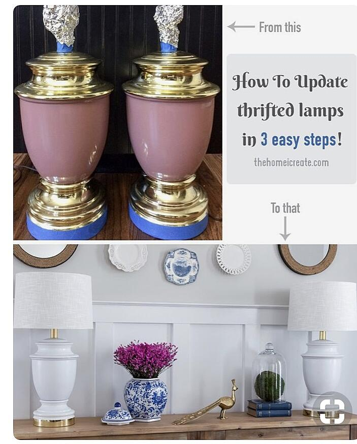 Thrifted lamps