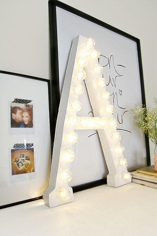 Letters as decor