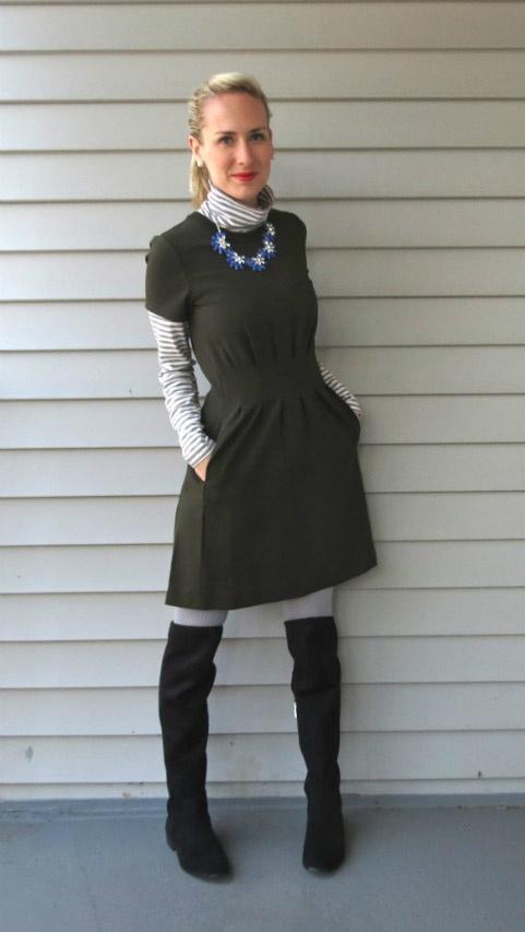 Turtlenecks under Dresses