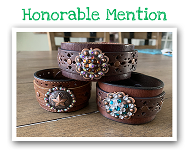 Upcycling Contest Honorable Mention - Belt Bracelets