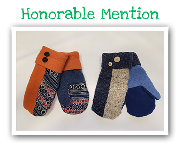 Upcycling Contest Honorable Mention - Sweater Mittens