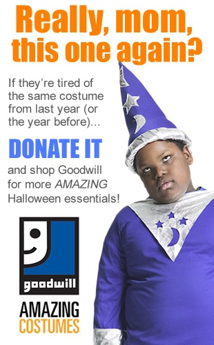 Donate Halloween Costumes to Goodwill!