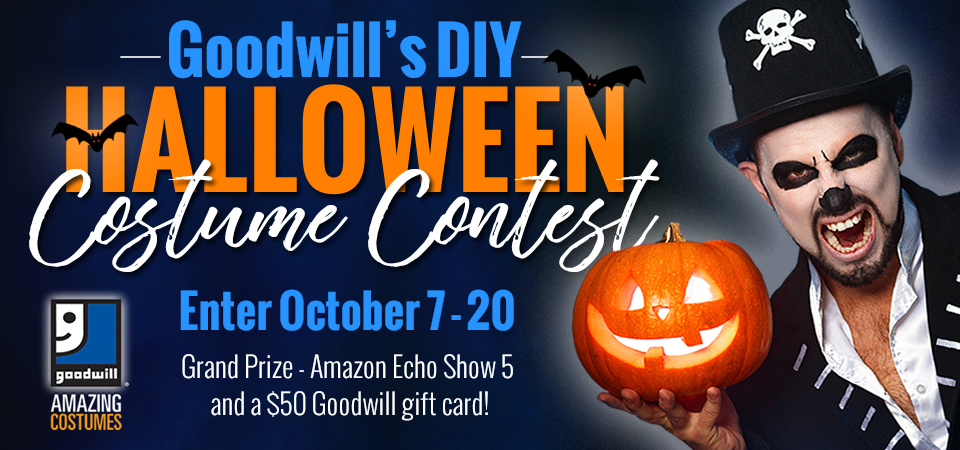 Enter Goodwill's DIY Halloween Costume Contest for a chance to win an Amazon Echo Show 5!