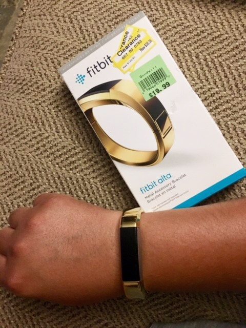 f784ac427ca6 Super excited to find the FitBit Alta metal band in gold I almost bought at  Target a few weeks ago