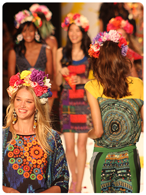 Desigual runway show at Mercedes Benz Fashion Week