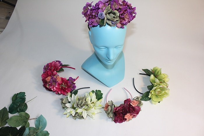 floral head pieces