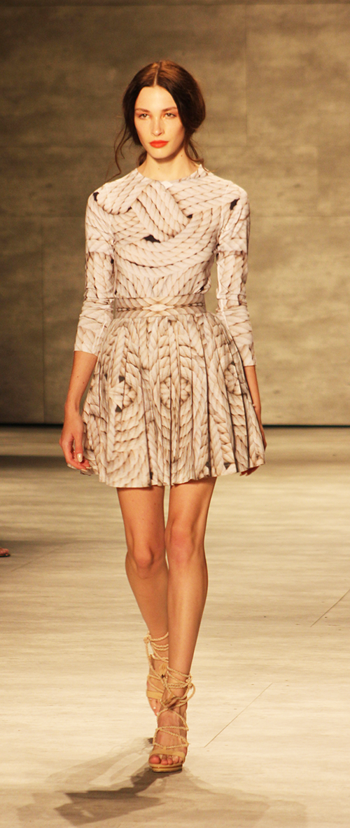 Luis Antonio rope-print dress