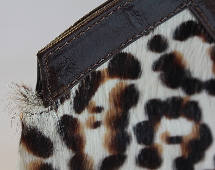 Doncaster, Italian made fur clutch - $12.99 at Goodwill