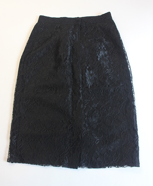 Black lace pencil skirt - $7.99 at Goodwill
