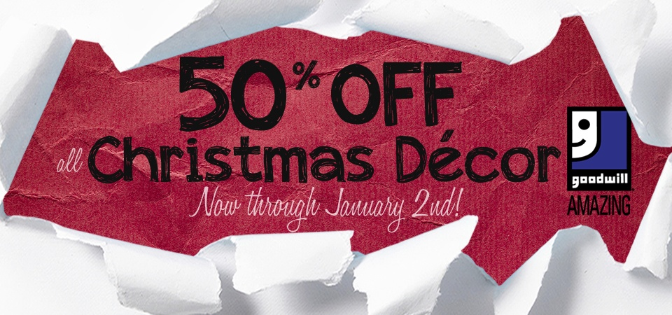 All Christmas Decorations 50% Off Through January 2nd