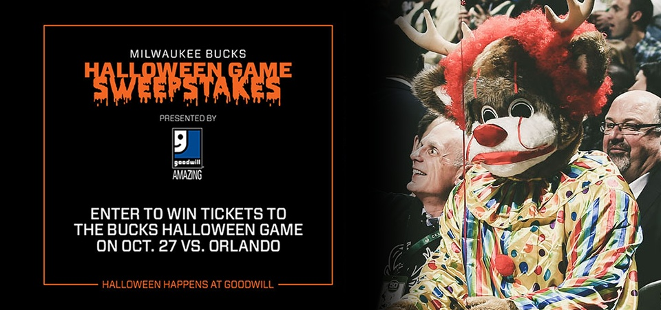 Win tickets to the Bucks Halloween Game presented by Goodwill