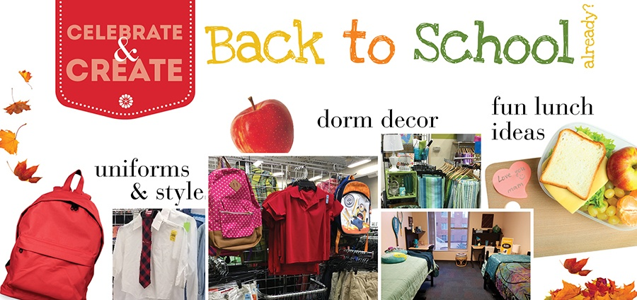 Great back-to-school ideas from Goodwill