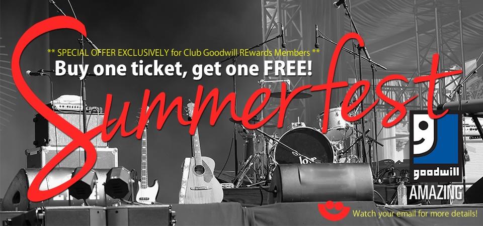 Summerfest and Goodwill BOGO ticket offer