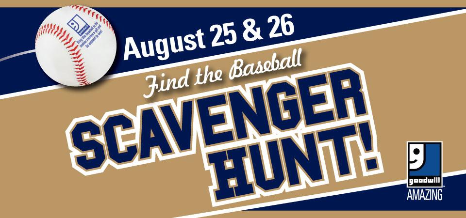 Find a Baseball at Goodwill Scavenger Hunt