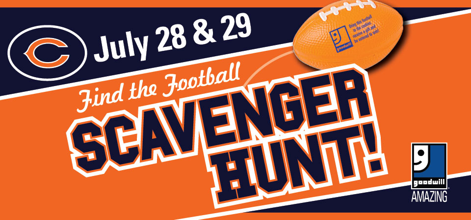Find the football scavenger hunt