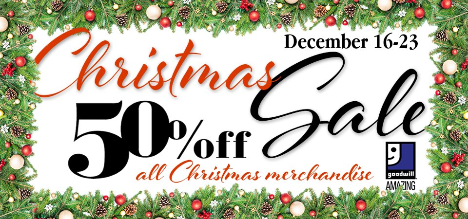 Goodwill Christmas Sale