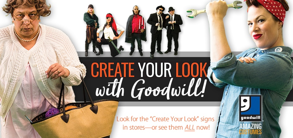 Create your Halloween look with Goodwill