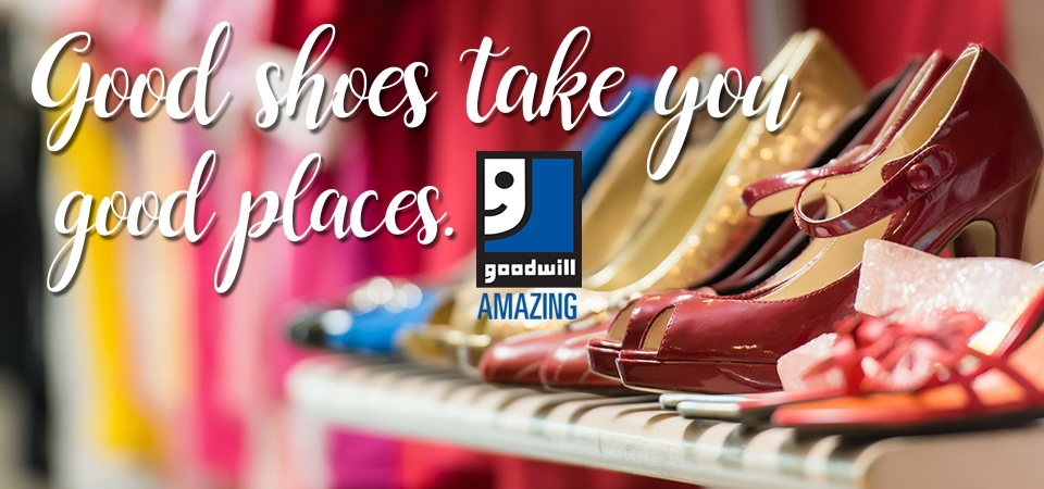 Buy shoes at Goodwill