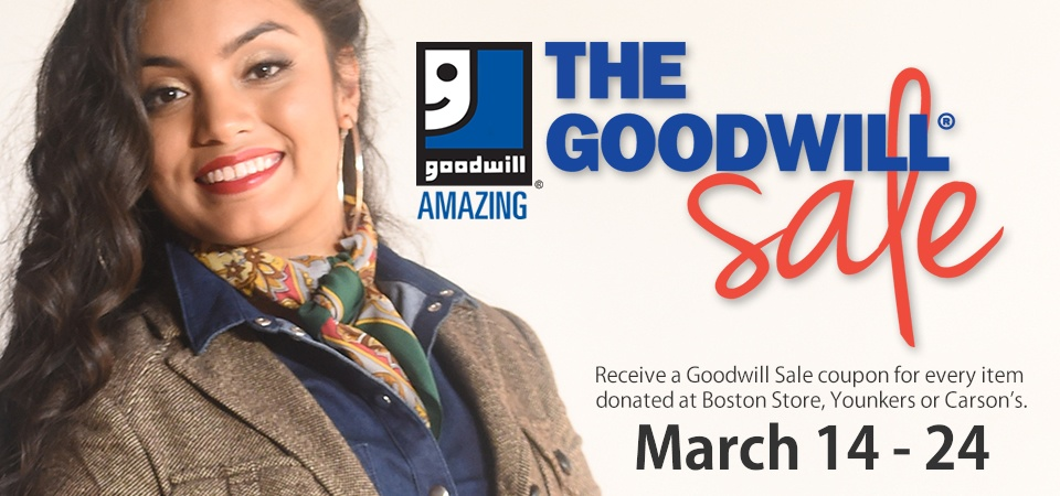 Donate and save during the Goodwill Sale
