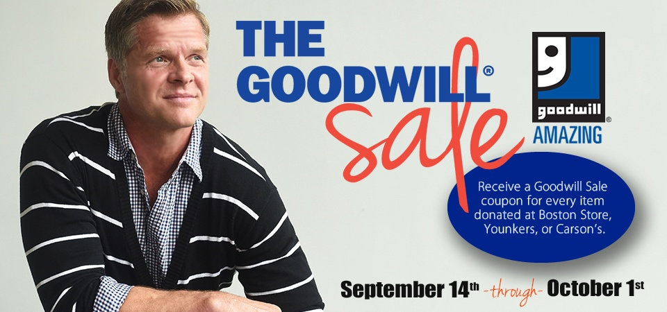 Make Donate and save during The Goodwill Sale