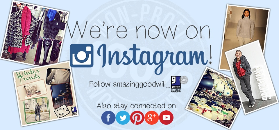 Follow AmazingGoodwill on Instagram