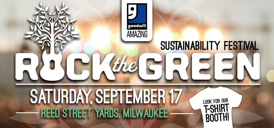 Goodwill participating in Rock the Green
