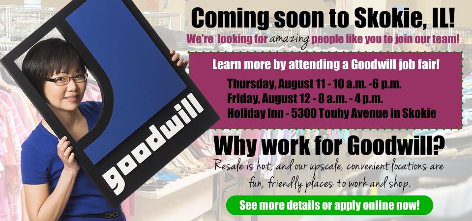 Goodwill is hiring in Skokie!